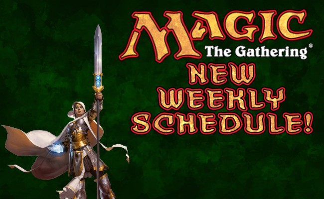 New Weekly Schedule Beginning Jan. 13th!