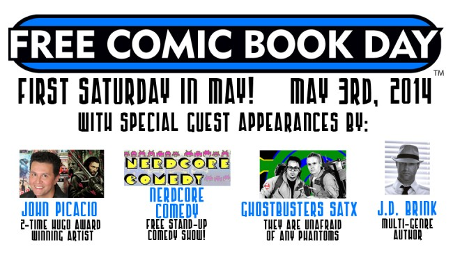 Free Comic Book Day! May 3rd!