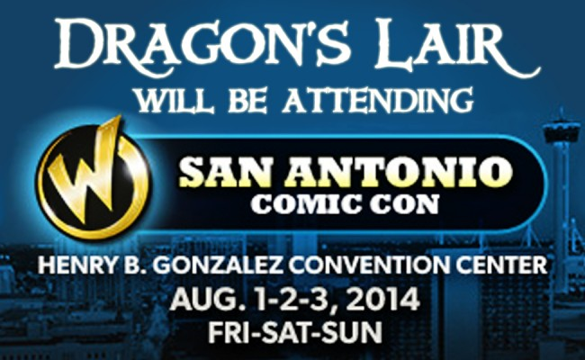 Dragon's Lair is going to Wizard World San Antonio! Aug. 1st!