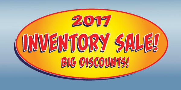 Our 2017 Inventory Sale is now happening!