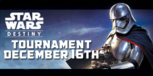 Star Wars Destiny Tournament here at Dragon's Lair SA Medical Center on December 16th at 11 AM!