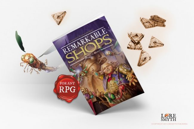 Remarkable Shops & Their Wares RPG book