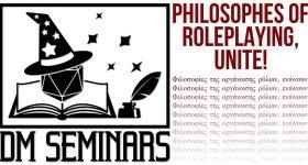 DM Seminars header image, Philosophies of Roleplaying, Unite!