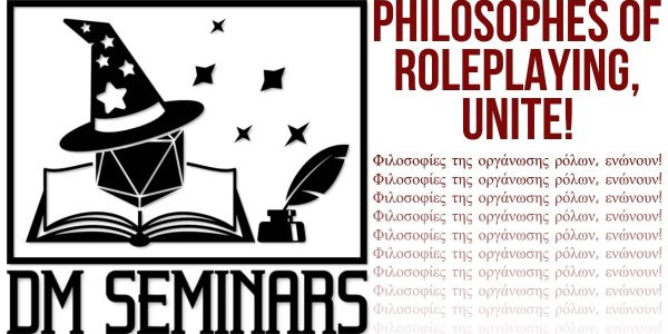 DM Seminars header image, Philosophies of Roleplaying, Unite!